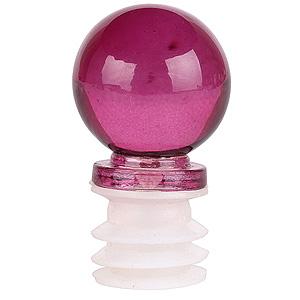 Fuschia Pink Glass Decorative Bottle Topper