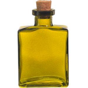 4.5 oz. Vintage Green Rio Glass Bottle