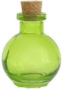 3.4 oz. Small Lime Green Ball Diffuser Bottle