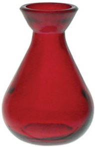 Red 5.1 oz.Teardrop Reed Diffuser Vase